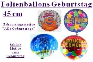 Geburtstag 45 cm Folienballons Allgemein (ohne Helium)