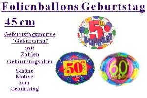 "Geburtstag 45 cm Folienballons ""Geburtstag Jahrgang"" (ohne Helium)"