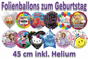 Geburtstag 45 cm Folienballons (inkl. Helium)