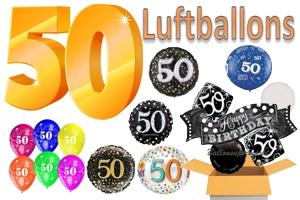 50. Geburtstag Luftballons