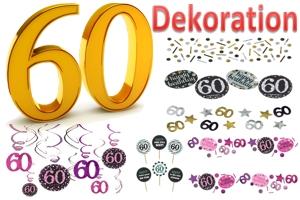 60. Geburtstag Dekoration