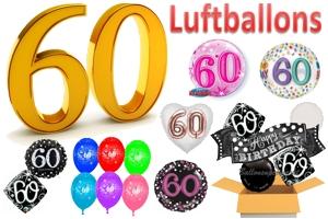 60. Geburtstag Luftballons