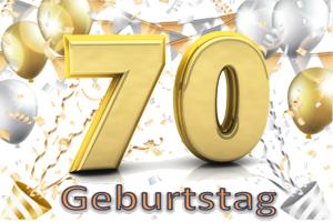 Geburtstag 70.