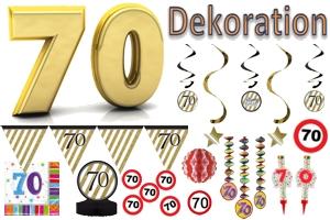 70. Geburtstag Dekoration