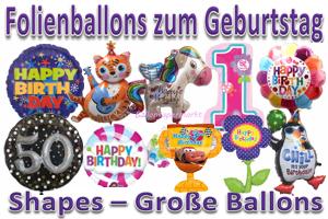 Geburtstag Folienballons Shapes Große Ballons (inkl. Helium)