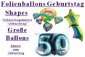 Geburtstag Folienballons Shapes Große Ballons (ohne Helium)