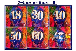 Geburtstag Servietten Serie 1