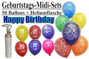 Ballons Helium Sets Midi Geburtstag
