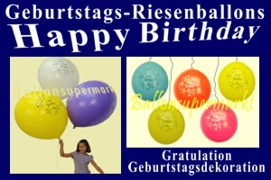 Geburtstags-Riesenluftballons, Happy Birthday
