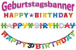Geburtstag Dekoration, Geburtstagsbanner, Letter-Girlanden