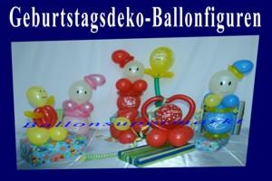 Geburtstagsdeko-Ballonfiguren
