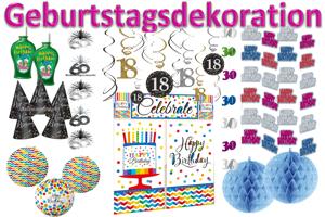 Geburtstagsdekoration, Dekoration zum Geburtstag
