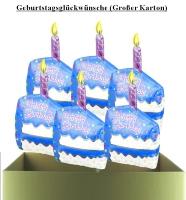 Folienballons zum Geburtstag (Großer Karton)