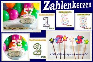 Geburtstagskerzen Zahlen