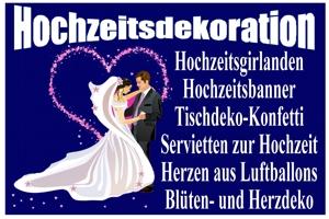 Hochzeitsdekoration: Girlanden, Banner & Deko