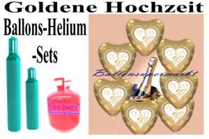 Goldene Hochzeit Sets