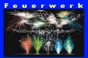 Großes Feuerwerk zu Hochzeit, Silvester, Party und Events