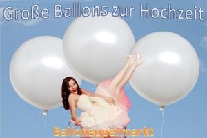 Große runde Ballons zur Hochzeit