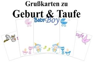 Grußkarten zu Geburt & Taufe