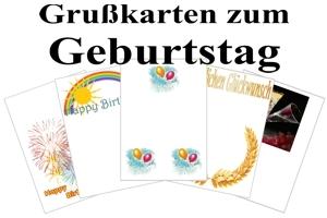 Grußkarten zum Geburtstag