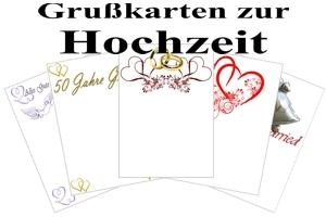 Grußkarten zur Hochzeit
