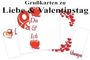 Grußkarten Liebesbotschaften