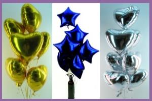Ballons und Helium Herz-Sets