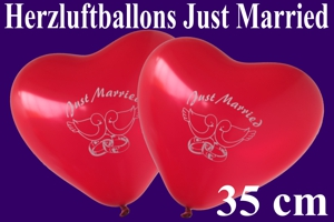Herzballon Just Married 35 cm