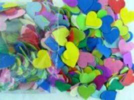 Herzkonfetti Bunt