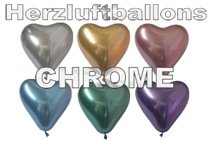Herzluftballons Chrome