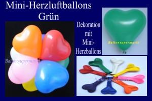 Herzluftballons-Mini-Grün