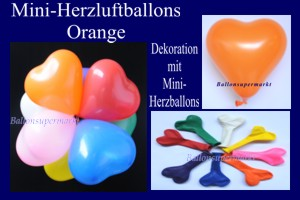 Herzluftballons-Mini-Orange