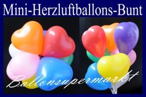 Herzluftballons-Mini-bunte-Farben