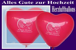 Herzluftballons, Alles Gute zur Hochzeit