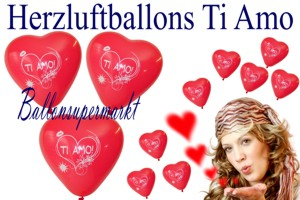 Herzluftballons - Ti Amo - Liebe