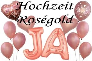 Hochzeit in Roségold