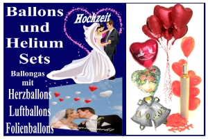 Sets Ballongas & Luftballons Hochzeit