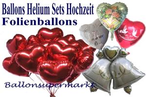 Ballons und Helium Sets Hochzeit - Luftballons aus Folie