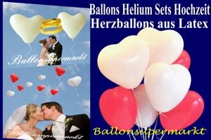 Ballons und Helium Sets Herzluftballons Hochzeit