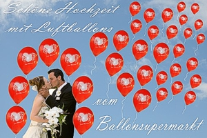 Luftballons zur Hochzeit mit Helium in Sets