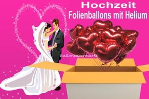 Luftballons aus Folie zur Hochzeit mit Helium