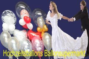 Riesenballons Hochzeit, Hochzeitsdeko mit Riesenluftballons