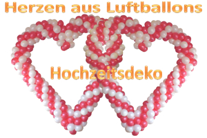 Hochzeitsdeko, Herzen aus Luftballons