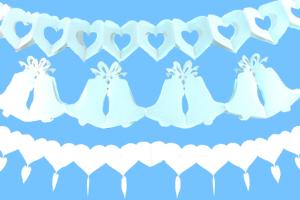 Hochzeitsgirlanden in Weiß - Hochzeitsdekoration