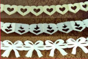 Hochzeitsgirlanden Weiß