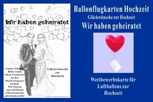 Luftballons mit Ballonflugkarten zur Hochzeit steigen lassen, Hochzeitskarten für Luftballons