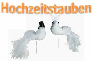 Hochzeitstauben Hochzeitsdeko
