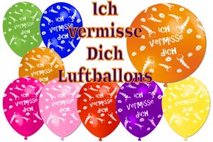 Luftballons Ich vermisse Dich