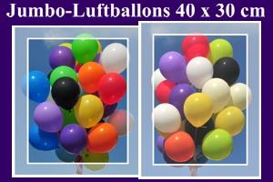 Jumbo Rund-Luftballons 40x30 cm
