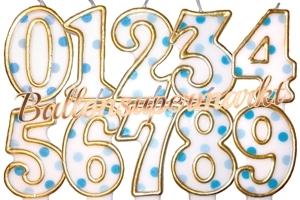Blue Dots Zahlen Geburtstagskerzen